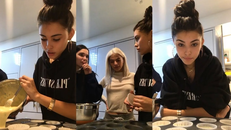 Madison Beer | Instagram Live Stream | 26 October 2017 [ Make Homemade Cupcakes ]
