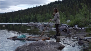 Making raft without nails or rope - permanent bushcraft camp - [part 2 - long version]