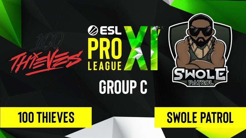 CS GO 100 Thieves vs Swole Patrol Inferno Map 3 ESL Pro League Season 11 Group C