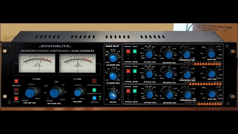 Synthblitz - Demon 80 multiband compressor From -27 to -7 dB RMS - vinyl source
