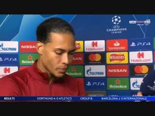 Virgil van dijk post match interview