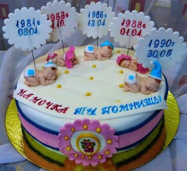 Потрясающий торт на день рождения мамы!