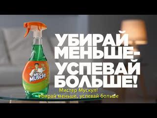 Спрей mr muscle® профессионал для стекол. убирай меньше успевай больше!