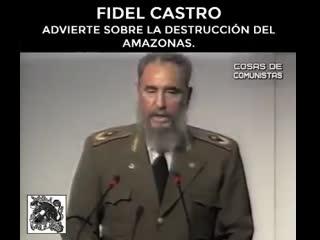 Fidel castro advierte del desastre ecológico de brasil en 1992