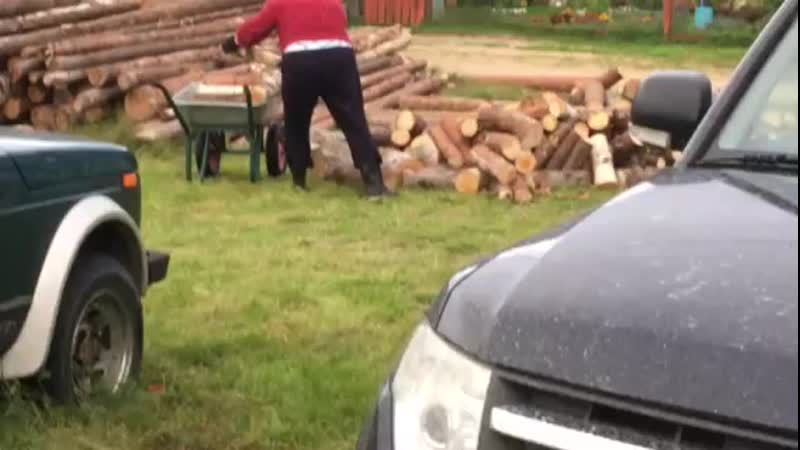 уборка дров