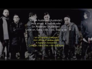 Rammstein ausländer (audio) (lyrics english)