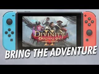 Divinity original sin 2 definitive edition анонсирующий трейлер (nintendo switch)
