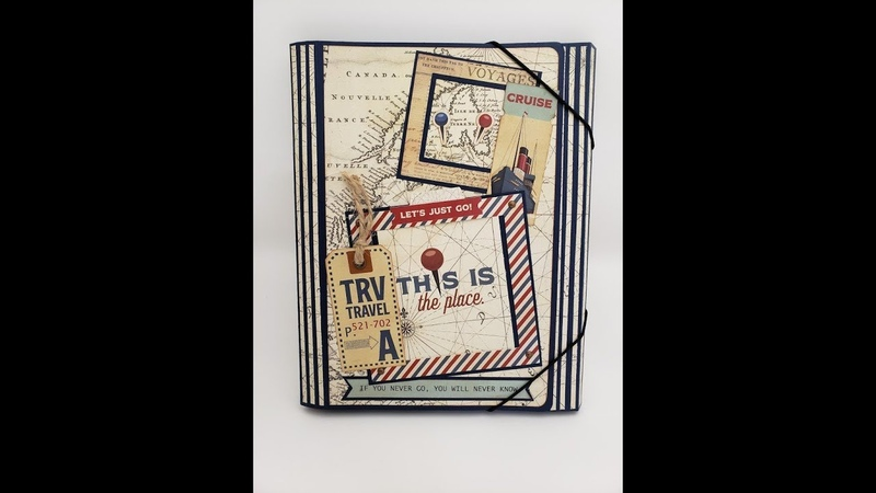 Travel folio using Here and There by Photoplay Paper
