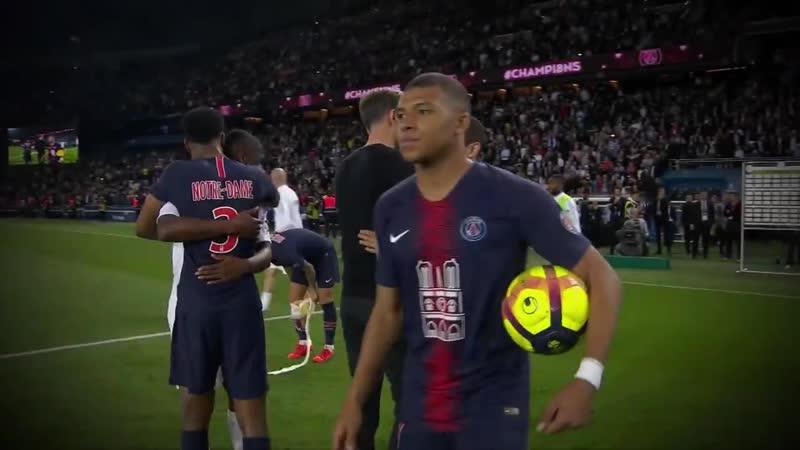 Kylian Mbappé signe un triplé pour fêter le 8e titre de champion du PSG - 33ème journée - 2018-19 (1)