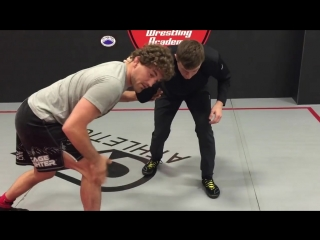 Ben askren. ankle pick from collar tie