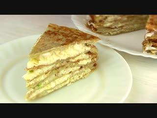 Закусочный Торт из Дерунов,драников_ Простой домашний рецепт