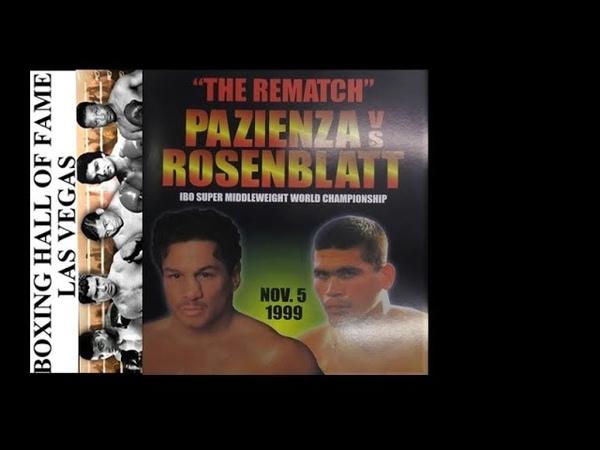 Vinny Pazienza Beaten by Dana Rosenblatt IBO Super Middleweight Title This Day November 5 1999