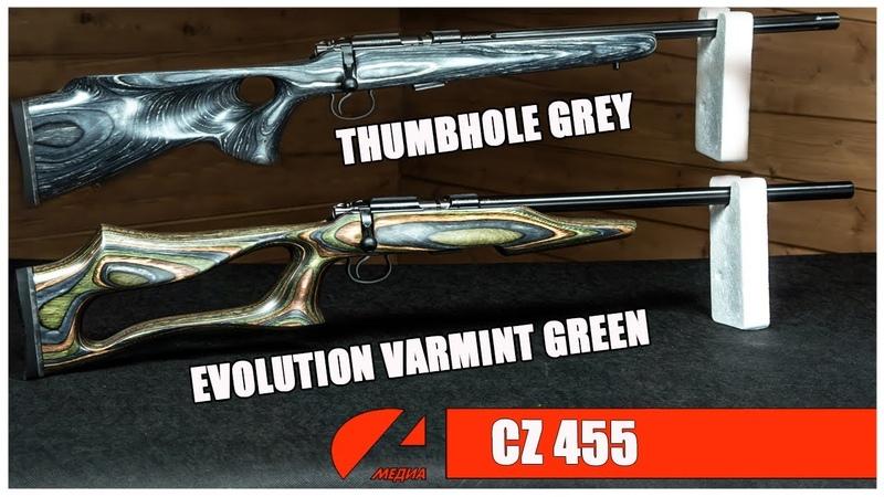 2 модели VARMINT мелкашек CZ 455
