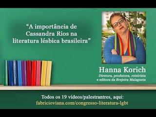 Congresso Literatura LGBT: Hanna Korich e a Importância de Cassandra Rios na Literatura Lésbica