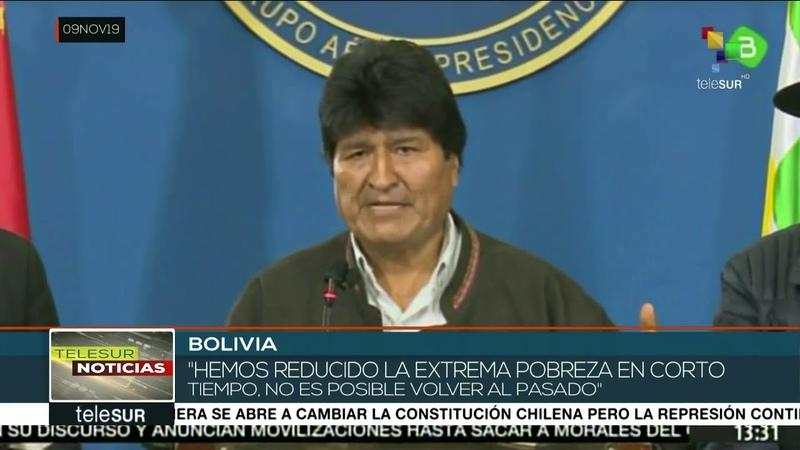 Evo Morales sectores golpistas quieren que regrese el pasado