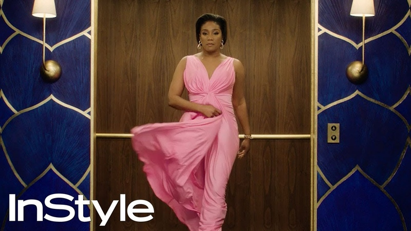 Tiffany Haddish 2020 Golden Globes Elevator InStyle