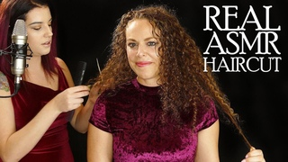 Real ASMR Haircut, Professional Hair Stylist Cuts Corrina Rachel's Hair