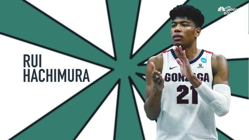 "NBC Sports Boston on Instagram: ""@asherrodblakely tracks Celtics potential pick, Rui Hachimura out of Gonzaga. Link in Bio!"""