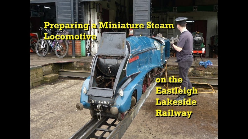 Preparing a Miniature Steam Locomotive on the Eastleigh Lakeside Railway