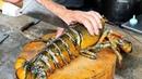 Thai Street Food - GIANT LOBSTER Gravy Noodles Bangkok Seafood Thailand