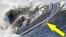 Корабли Попавшие в 12 Бальный Шторм / Cruise liner in 12 ball storm