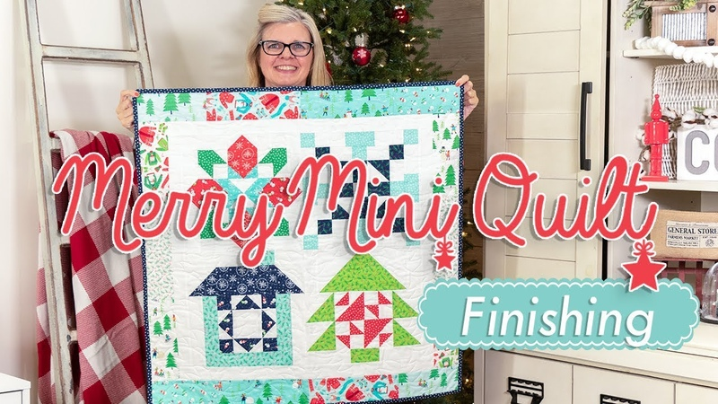 Christmas in July Sew Along - Merry Mini Week Five- Finishing - Fat Quarter Shop