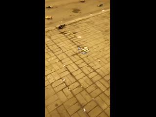 Последствия празднования Нового Года на площади им. Ленина 1 01 2020 Донецк