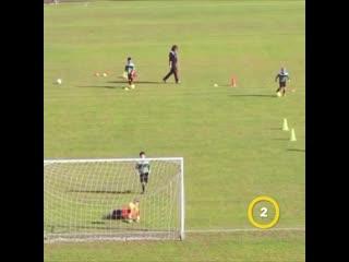 3 футбольных упражнения на завершение атаки