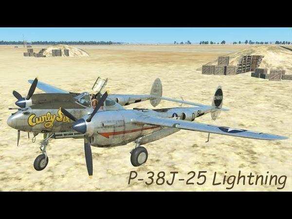 P-38 Lightning | Детальный осмотр кабины и механизмов самолета.