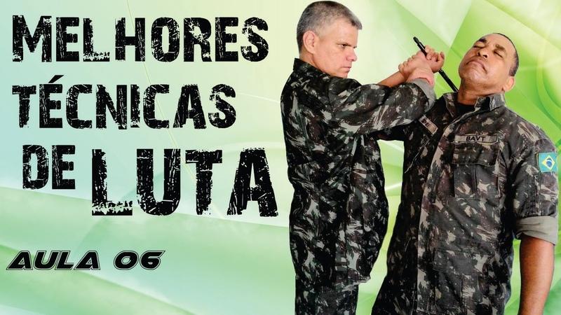 TÉCNICAS DE COMBATE MILITAR Luta aula 06 Artes Marciais e Defesa Pessoal