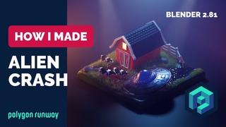 Alien Crash in Blender 2.8 - 3D Modeling And Sculpting