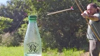 Bottle cap challenge   Archery Trick Shots