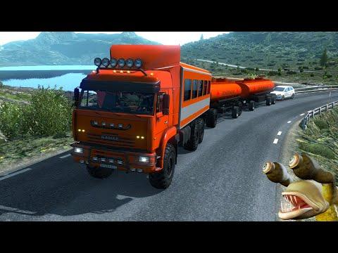 КАМАЗ 652216460прицеп ОБЗОР Euro Truck Simulator 2 (v1.36.x)