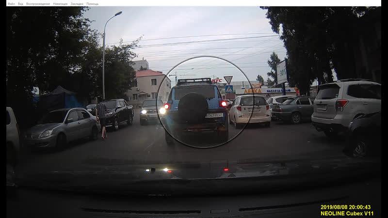 Нарушение правила остановки/стоянки на улице Владивостокская