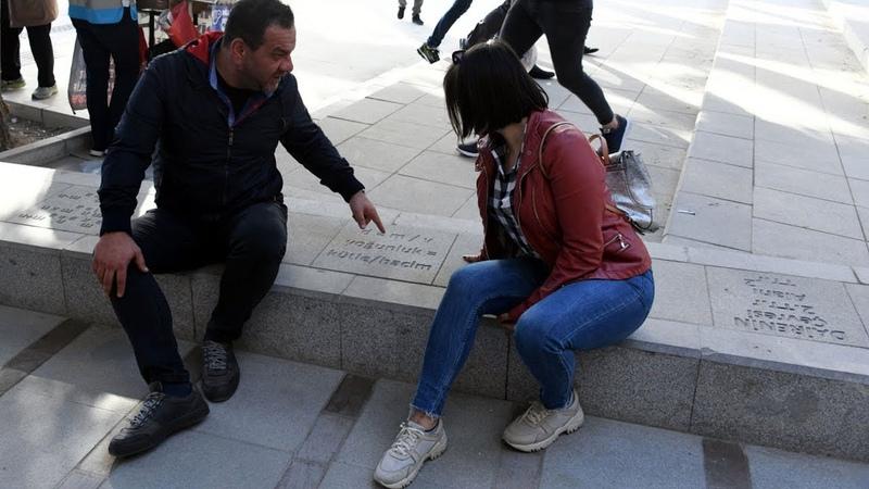 Başkent'te kaldırım taşlarına sayısal formüller yazıldı