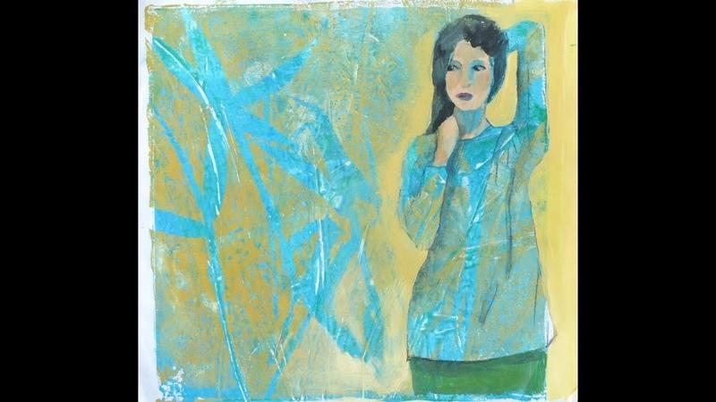 Alice-ART, Ideen für Gelatine-Drucke (3), What to do with Gelli Prints (3) Add a Figure