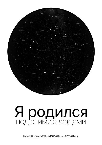 Персональная карта звёздного неба от Cheese Photo, изображение №8
