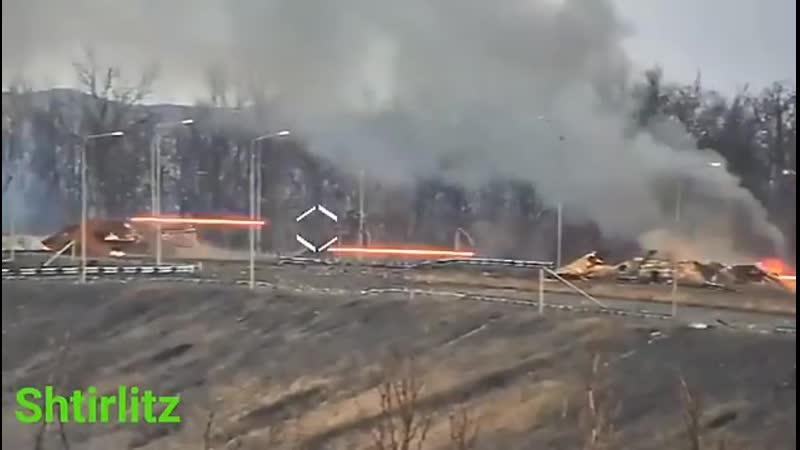 Камера ВСУ корректирует обстрел на Промке.