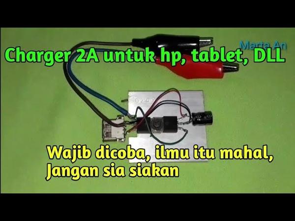 Bikin Chas HP Android 2Amp di motor mobil dll Karya ROSLIN TEHNIK