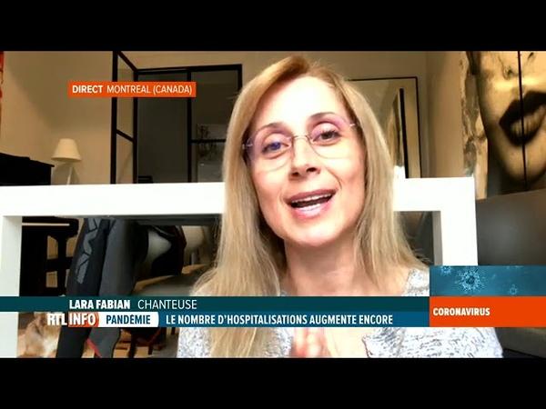 RTL INFO 13H Coronavirus Lara Fabian nous raconte son quotidien en confinement 26 03 20