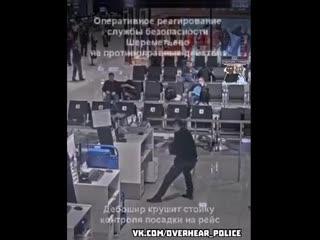 Профессиональное успокоение дебошира в Шереметьево