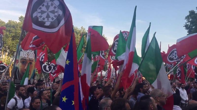Inno Italiano Inno Mameli live Tana Delle Tigri IX CasaPound