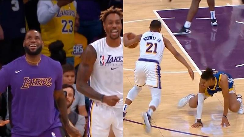 Zach Norwell Jr. just broke Jordan Poole's ankle | Lakers vs Warriors