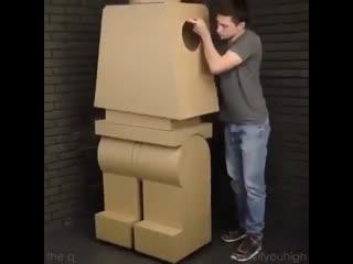 Building a giant lego man