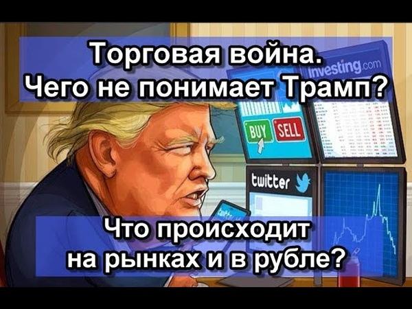 Торговая война . Чего не понимает Трамп. Прогноз курса рубля доллара и евро на сентябрь 2019