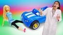 Видео про игрушки и машинки Кукла Барби и Кен в больнице!