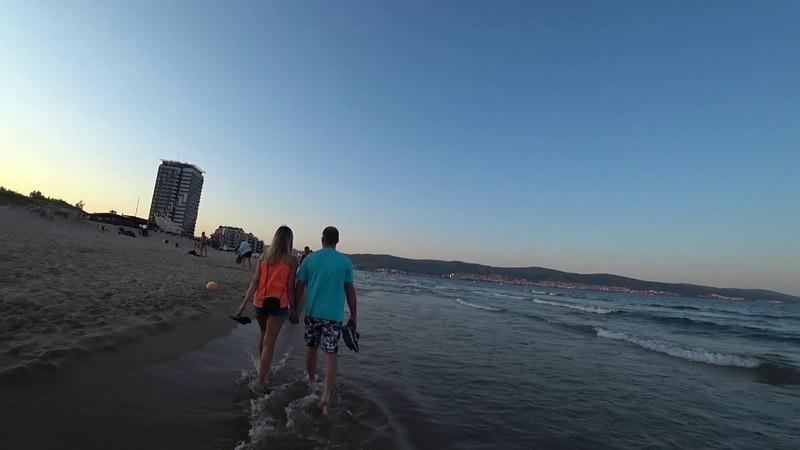Болгария.Солнечный берег.Вечерняя экскурсия по пляжу