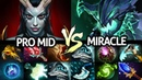 MIRACLE Outworld Devourer VS Pro Mid Queen of Pain Brutal Refresher OD 7 22 Dota 2