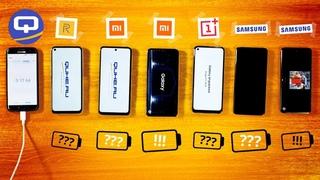 Galaxy A51 против Poco x3/Redmi note 9 Pro/Realme 7/A71/OnePlus Nord. Тест расхода аккумуляторов.