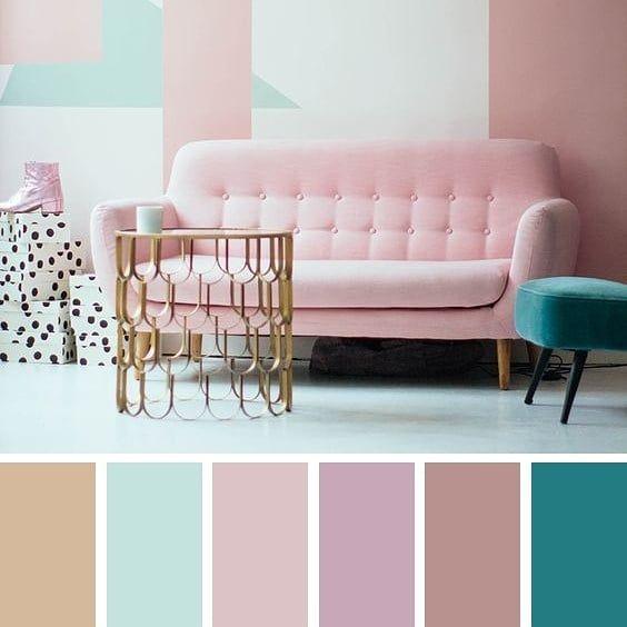 Сочетание пыльно розового с другими цветами.